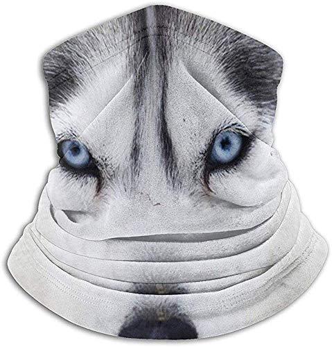 Niet geschikt voor mannen en vrouwen nekwarmer Husky Funny FacePortrait nekbescherming tube oor warmer hoofdband sjaal gezichtsmasker bivakmuts voor mannen en vrouwen
