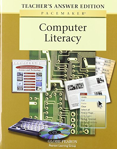 Compare Textbook Prices for GF COMPUTER LITERACY PACEMAKER TEACHER'S ANSWER EDITION 2001C PACEMAKER COMPUTER LITERACY 0 Edition ISBN 9780130233608 by Education, Pearson