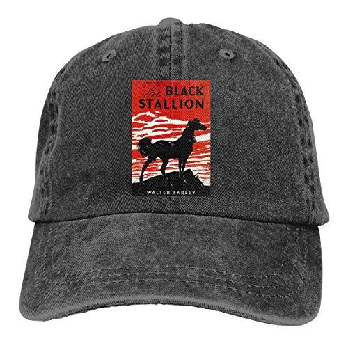 FUGVO Sombreros cómicos Personalizados Negro The Black Stallion One Size Casquette Cowboy Hat