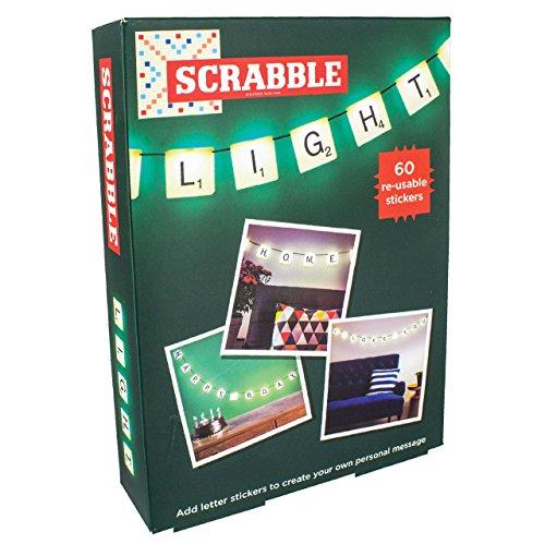 Scrabble Guirlande lumineuse avec 60 autocollants réutilisables