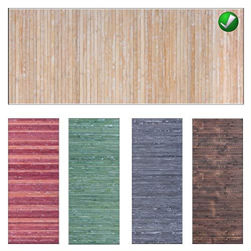 Ca Gi Sa Sorrento Tappeto Bamboo Legno Degrad/è Multicolor da Cucina o Bagno con Antiscivolo Passatoia