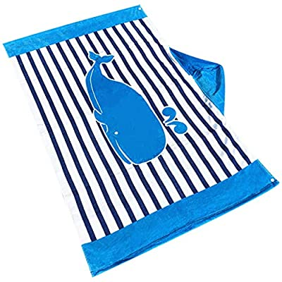 Gmgod????Children 1-12 Years Old Bathrobe Shark Hooded Beach Towel Pool Blouse Shawl