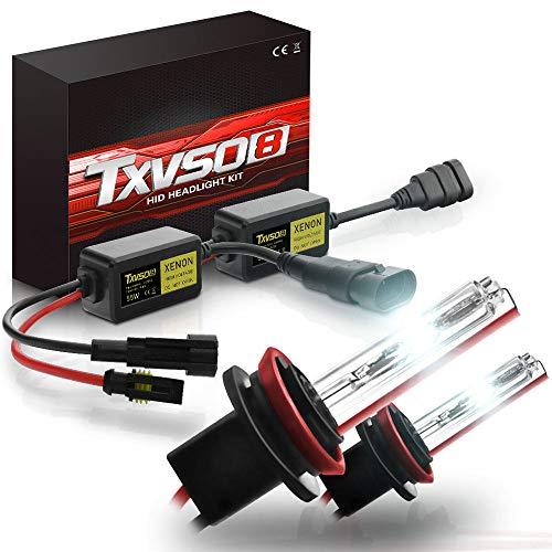 HPDOZ H8/H9/H11 Xenon-Lampen12V 55 Watt Xenon HID Conversion Kit Scheinwerfer für Auto Fahrzeug Ersatz Halogenlampe Set, 6000K/8000K/10000K/12000K(2 Glühbirnen,8000K