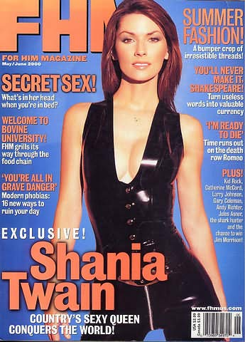 FHM Magazine (May/June 2000 2nd issue Shania Twain)