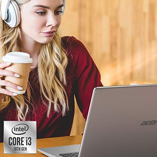 Acer Aspire 5 A515-55-378V, pantalla Full HD de 15,6', procesador Intel Core i3-1005G1 de 10ª generación (hasta 3,4 GHz), DDR4 de 4 GB, SSD NVMe de 128 GB, WiFi 6, cámara web HD, teclado retroiluminado, Windows 10 en modo S