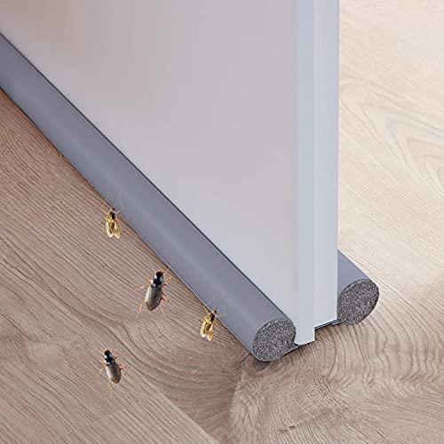 Xnuoyo Under Door Draft Stopper, Paraspifferi Sottoporta Paraspifferi per Porte Striscia Universale, Guarnizione Inferiore della Porta, Anti-insetti, Antipolvere e Antirumore (Grey)