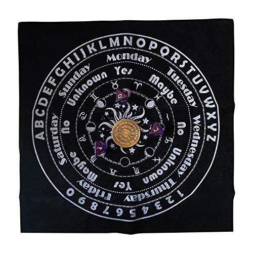 xianghaoshun Tarot Tischdecke, 30x30cm leichte weiche Astrologie Tischdecke, Altartuch Altar Tarot Dekor Astrologie Tapisserie Decke