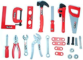 LilPals Handyman Tool Play Set – 15+ Piece Children's Toy Set – Variety of Wrenches, Pliers, Saw, Hammer, Etc. - Makes Great Gift!!