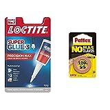 Loctite Super Glue-3 Precisión, Pegamento Transparente De Máxima Precisión+Pattex No Más Clavos Cinta, Cinta Adhesiva Para Aplicaciones Permanentes