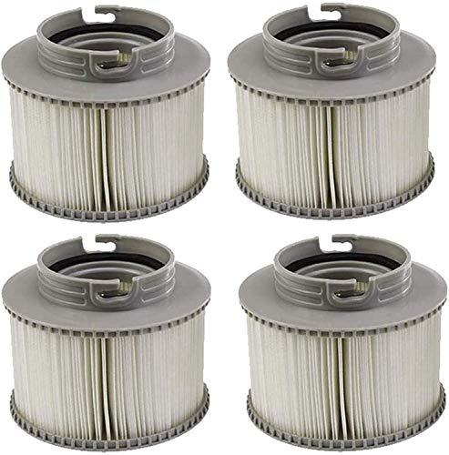 XIAOL Spa-Filter, Ersatzfilterpatronen für MSpa-Whirlpools, Filterkartusche für Pools, Ersatz-Filterkartusche für Schwimmbecken, Giving You Sauber und Frisch Wasser (4 pcs)