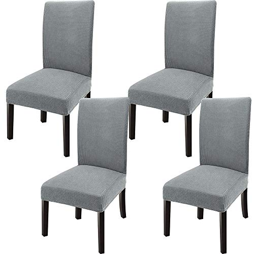 GoodtoU Chair Covers for Dining Room Stretch Dining Chair Slipovers Parsons Chair Slipcovers for Dining Room, Kitchen (Set of 4, Light Gray)