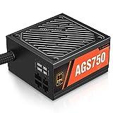 ARESGAME Fuente de alimentación semimodular 80+ Gold PSU (AGS750).