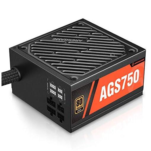 ARESGAME AGS750 750W Semi Modular 80+ Oro Certificado PC Poder Suministro 1