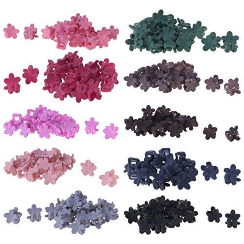 Freshsell Lot de 20 Pinces à Cheveux en Forme de Fleur pour Filles Mignonnes à la Mode coréenne Simple pour Enfant Crabe Griffes Mini décoration