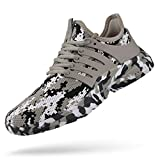 Troadlop Mens Running Shoes Tennis Sneakers Breathable Food Service Restaurant Comfortable Athletic Sport Gym Workout Shoes Camouflage Brown 12