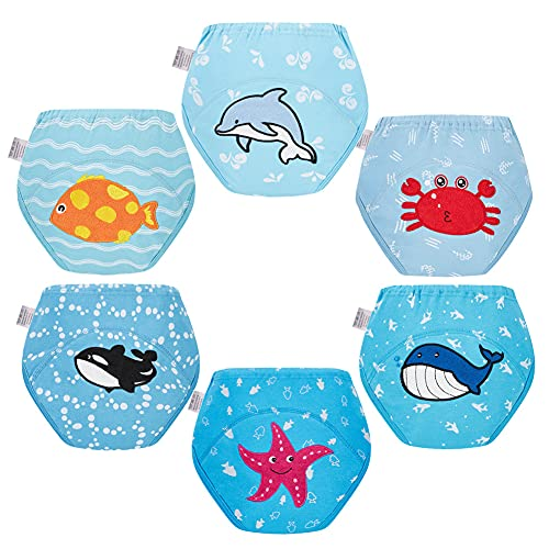 Skhls Training Pants Underwear for Toddler Boy Potty Training Cute Design Multipack, 6 Pack 2T