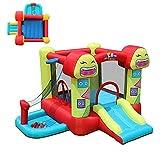 Castillo para niños Tobogán para niños al Aire Libre Zona de Juegos para niños Trampolín Travieso Hogar Cama de Salto para niños Chi (Deportes al Aire Libre)