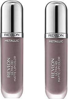 Pack of 2 Revlon Ultra HD Metallic Matte Liquid Lipcolor, HD Luster (720)