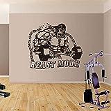 Tatuajes de pared wallpaper King Kong fitness gym bodybuilding kettlebell stickers gym fitness studio pegatinas de pared inspiradoras 68Cmx56Cm