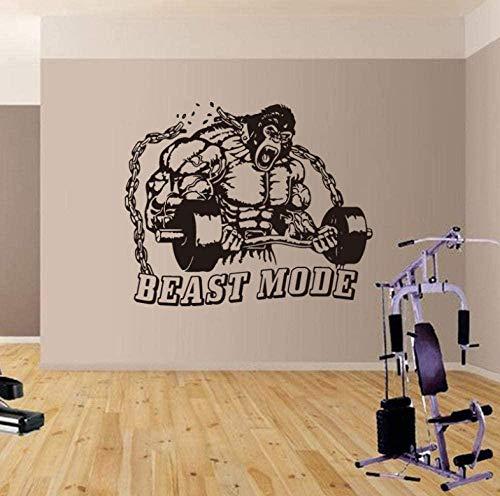 Tatuajes de pared wallpaper King Kong fitness gym bodybuilding kettlebell stickers gym fitness studi