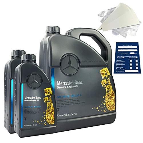Mercedes-Benz 5W-40 MB 229.5 - Set de aceite de motor original 7 litros