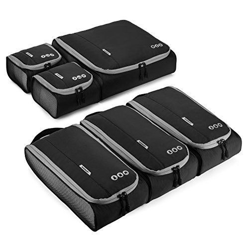 Packing Cubes, BAGSMART Travel Packing Organizer Set of 6 Pcs, Easier Pack, Fit in Carry on Suitcase, Backpack, 3 Sizes