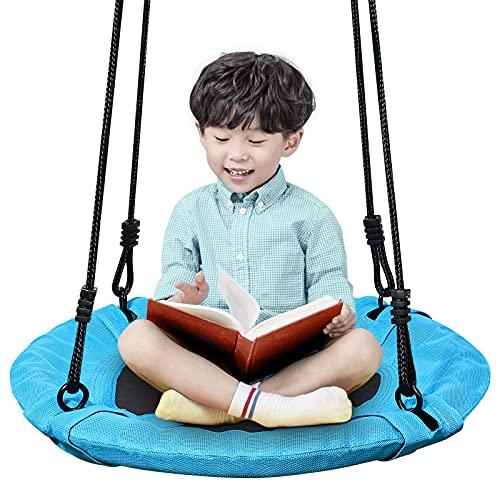 Homde Upgrade Version Flying Saucer Swing Anti-Fade Tree Swing Set Outdoor Indoor...