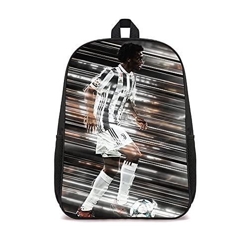LUOTINGL Mochila informal con diseño de Juan Cuadrado, mochila pequeña para niños, bolsa de gimnasio, mochila con estampado de moda de 16 pulgadas