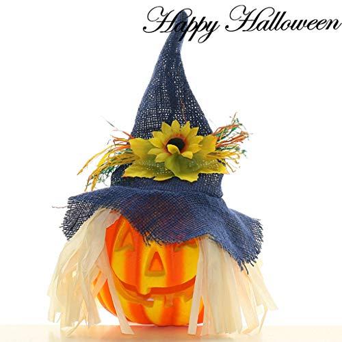 LJJOZ Decoraciones de luz de Calabaza de Halloween Decoraciones de Escritorio de Dibujos Animados de Espuma ecológicas Hay una Variedad de Estilos Disponibles (Color : D)