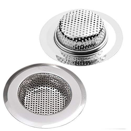 Fayomir Abflusssieb 2er Set, 7CM Edelstahl Küchen spüle Dusche Badewanne Abfluss Spüle Filter Sieb, 2 Stück Abfluss Sieb, Verschiedene Größen sind für Universal Sieb Dusche Abfluss 3.6 cm-11cm