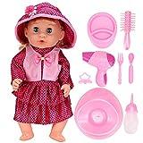 Muñeca eléctrica de juguete, Muñeca de juguete, Muñeca de juguete, Ojos cerrados Regalo para niños Niños Niños Niñas(SY011-6 color box version)