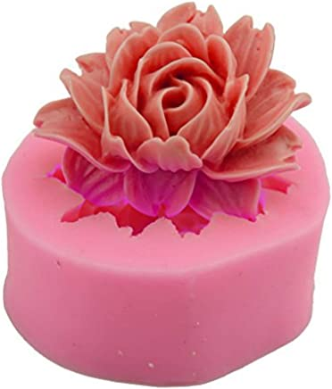 Love DIY Home(TM) Flower Shape Fondant Mold Silicone Sugar Craft Molds Cake Decorating tools