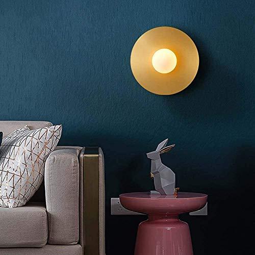 YANQING Duurzame koperen wandlamp slaapkamer creatieve persoonlijkheid nachtlampje post moderne minimalistische woonkamer TV achtergrond muur lamp 23 cm * 23 cm * 15 cm afstand