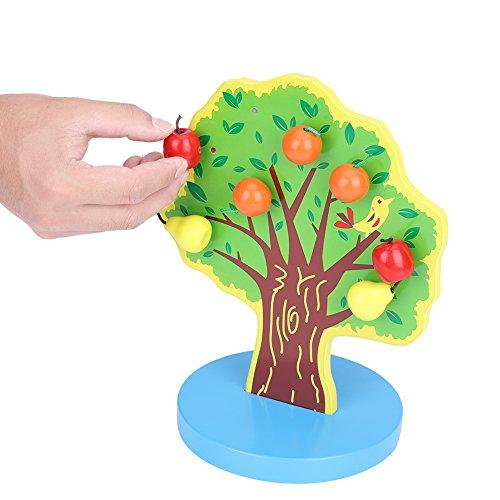 Hztyyier Kinder magnetische DIY Spielzeug, Holz obstbaum magnetische DIY Spielzeug Rolle Spielen Spielzeug für Kinder Kinder pädagogische Geschenke