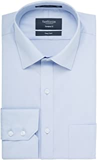 Van Heusen Men's Euro-Tailored Fit Herringbone Business Shirt