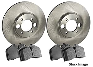Stirling - 2015 For Ford F-250 Super Duty Front Disc Brake Rotors and Ceramic Brake Pads (Note: SRW; 363mm; 4WD)