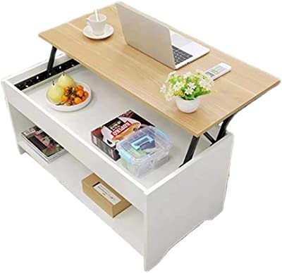 Coffee Table with Storage & Wheels - Lift Up Top Coffee Table for Living Room - Modern Coffee Tables Large Hidden Compartment