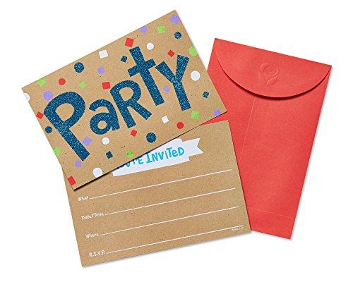 American Greetings Graduation Party Invitations, Confetti Glitter Fun (20-Count)