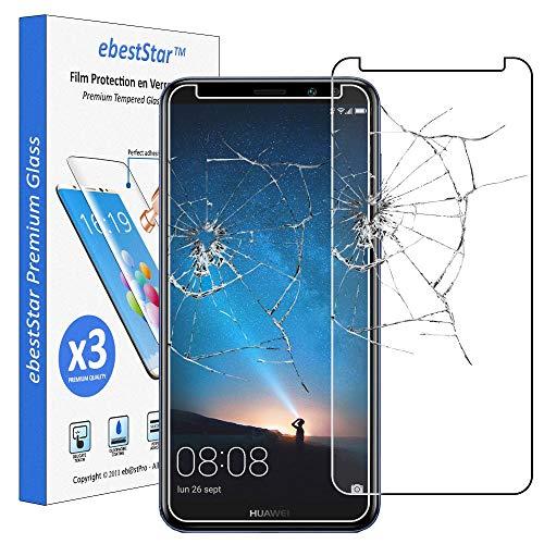 ebestStar - [Lote x3 Cristal Templado Compatible con Huawei Mate 10 Lite 2017 Protector de Pantalla, Película Vidrio Dureza 9H, Sin-Burbujas [Aparato: 156.2 x 75.2 x 7.5mm, 5.9'']