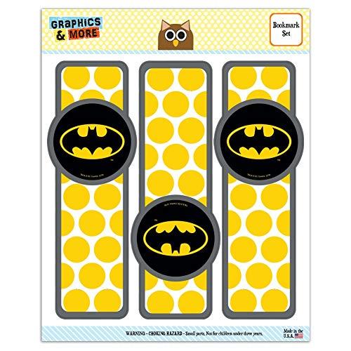 Batman Classic Bat Shield Logo Set of 3 Glossy Laminated Bookmarks