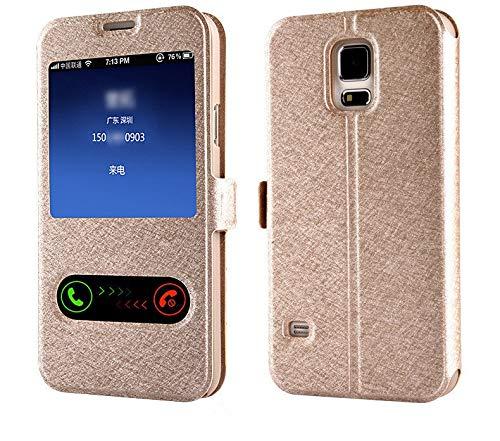HHF - Funda de piel con tapa para Samsung Galaxy A6 A8 J6 2018 A3 A5 A7 J3 J5 J7 2016 2017 S9 S8 Plus (color: oro, material: S6 Edge)