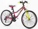 Vélo de montagne pour filles en alliage 24'' vélo de montagne, suspension de...