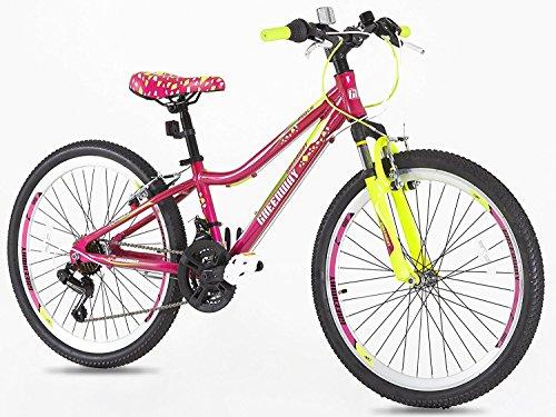 Northwest Guitars–24pulgada para bicicleta de montaña de aleación de las niñas–Luz Peso de suspensión para bicicleta de montaña
