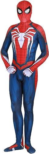 SDKHIN ErWeißerte Krieger Bürgerkrieg Spider-Man All Inclusive Strumpfhosen Erwachsenen Kostüm Cosplay Kleid Erwachsene Party Film Requisiten Kostüm,Blau-Adults
