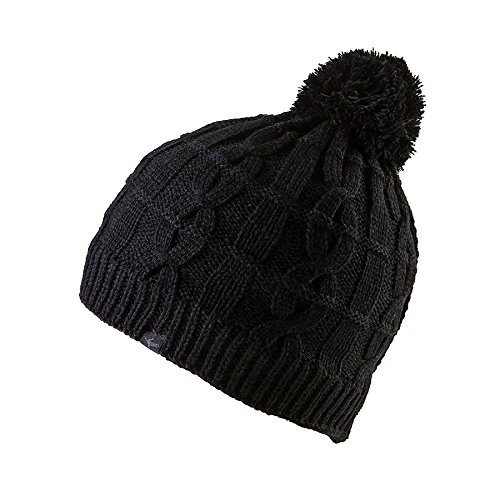 SEALSKINZ Unisex Waterproof Unisex Cable Knit Bobble Hat, Black, XX-Large