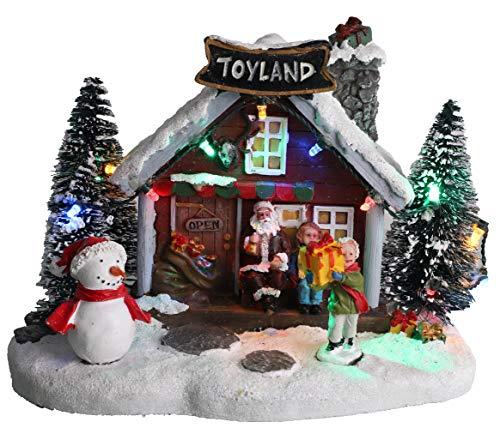 Christmas Concepts® LED Ilumina la Escena de la Aldea navideña - 8' / 20cm (TOYLAND Toy Shop)