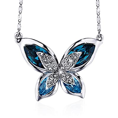 SIVERY 'Butterfly' Women Necklace Jewelry with New Crystals from Swarovski, Gifts for Girlfriend and Mom