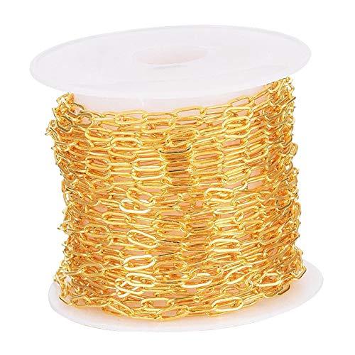 Sharplace 1 Rollo 16ft latón Cable Cadena Enlace DIY joyería Que Hace la Cadena Accesorios Hechos a Mano Collar Pulsera Extensor Cadena