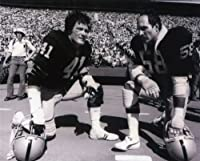 Phil Villapiano & Monte Johnson Oakland Raiders 8x10 Sports Action Photo