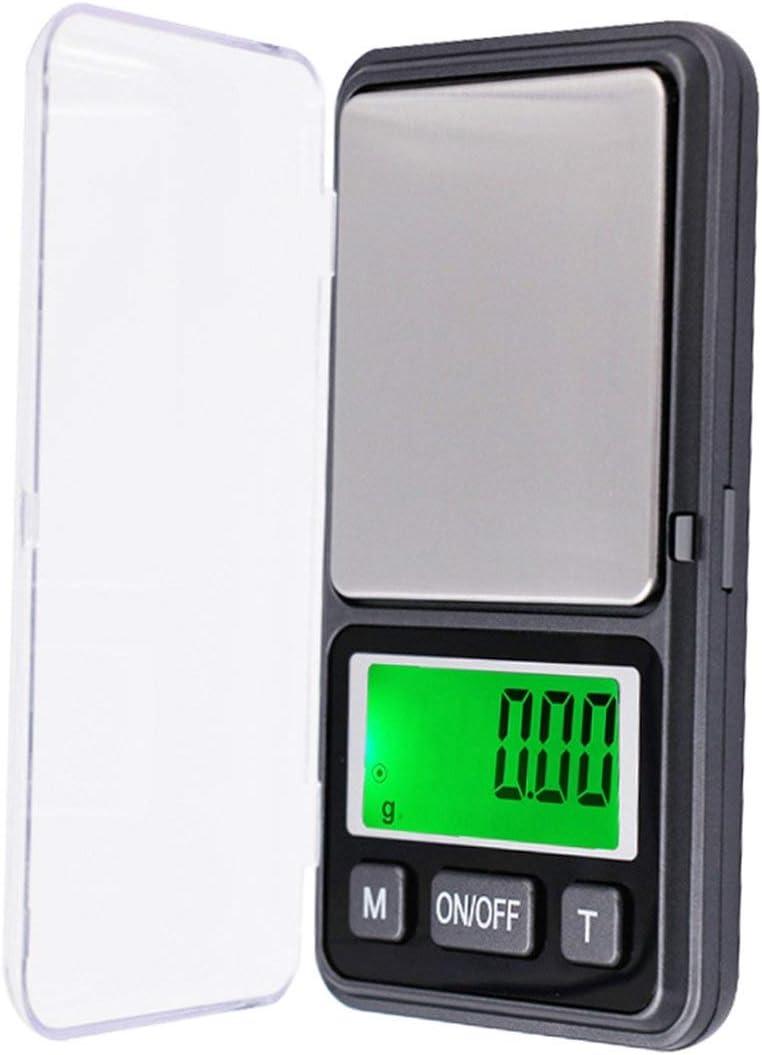 SeniorMar 500 g / 0.01 g báscula retroiluminación LCD Digital electrónica báscula de Cocina Mini báscula portátil báscula de joyería